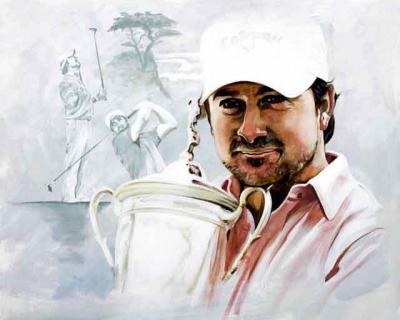 Graeme McDowell Portrait On Canvas