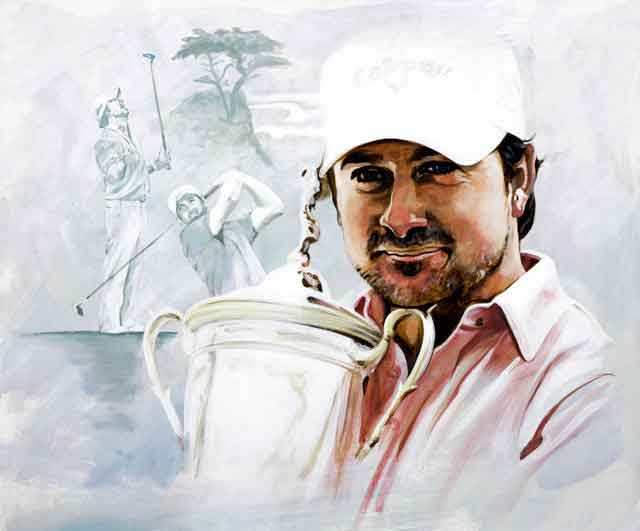 Graeme McDowell Portrait On Canvas