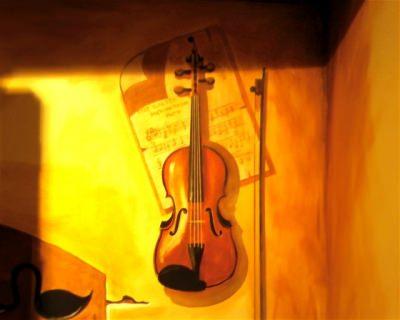 Corny's Violin (Trompe l'oeil)