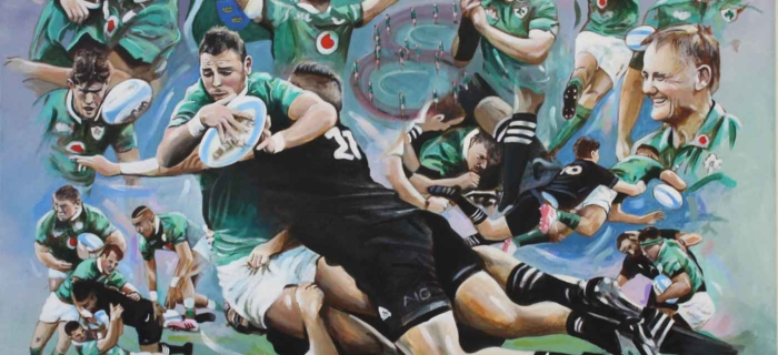Ireland v All Blacks Soldier Field – Limited Edition Print