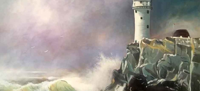 Fastnet Lighthouse (Original Painting on Canvas 100cm by 76cm)