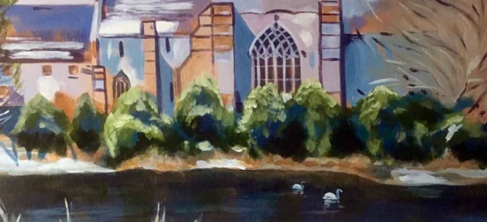 'Abbey Thaw' (Original Painting 60 cm. by 60cm.)