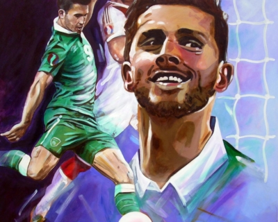 Shane Long (100cm by 100cm) Portrait